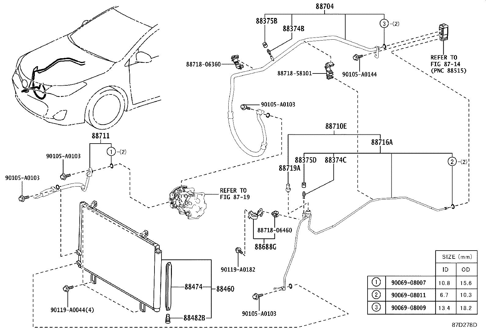 Toyota Avalon Tube Amp Accessory Assembly Air