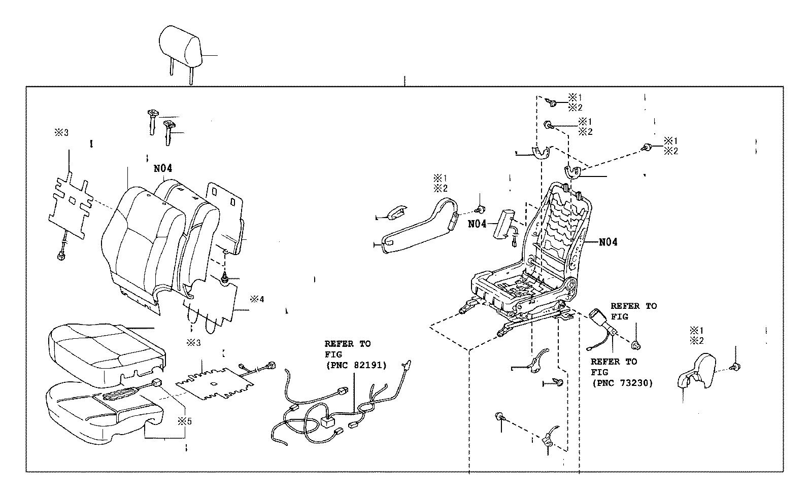 Toyota Camry Cover Reclining Adjuster Inside Left