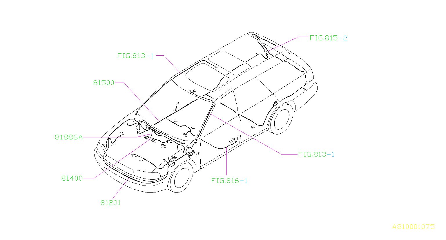 Subaru Legacy Harness Front Left Main Wiring
