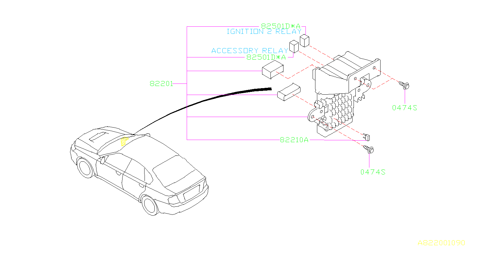 Subaru Legacy Accessory Power Relay