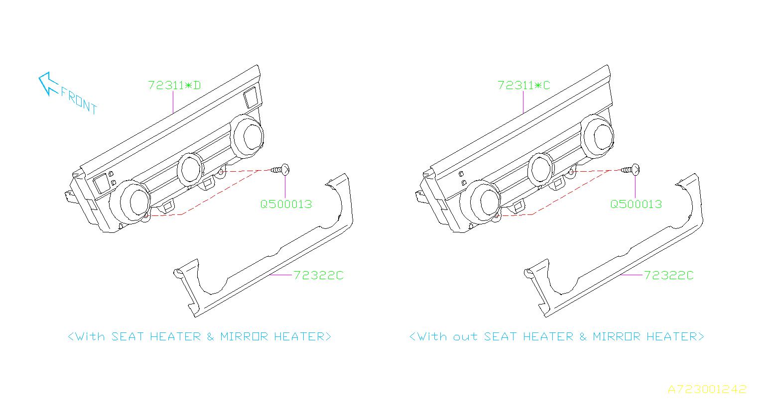 Subaru Legacy Heater Control A Manual Make Switch
