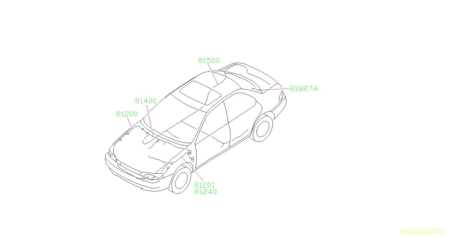 Subaru Impreza Harness Front Main Wiring Electrical