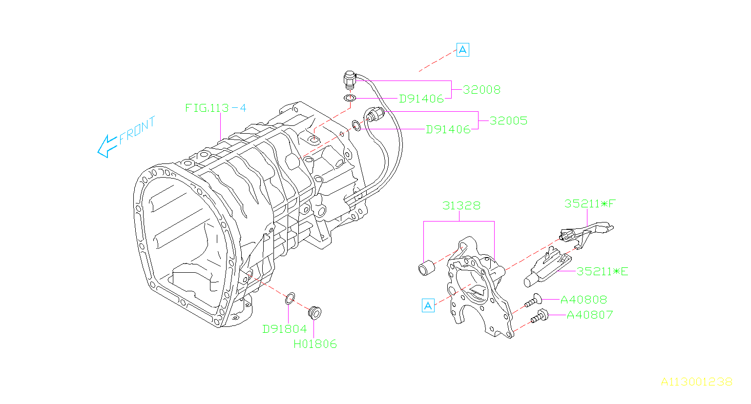 Subaru Sti Gasket Transmission Case Swich