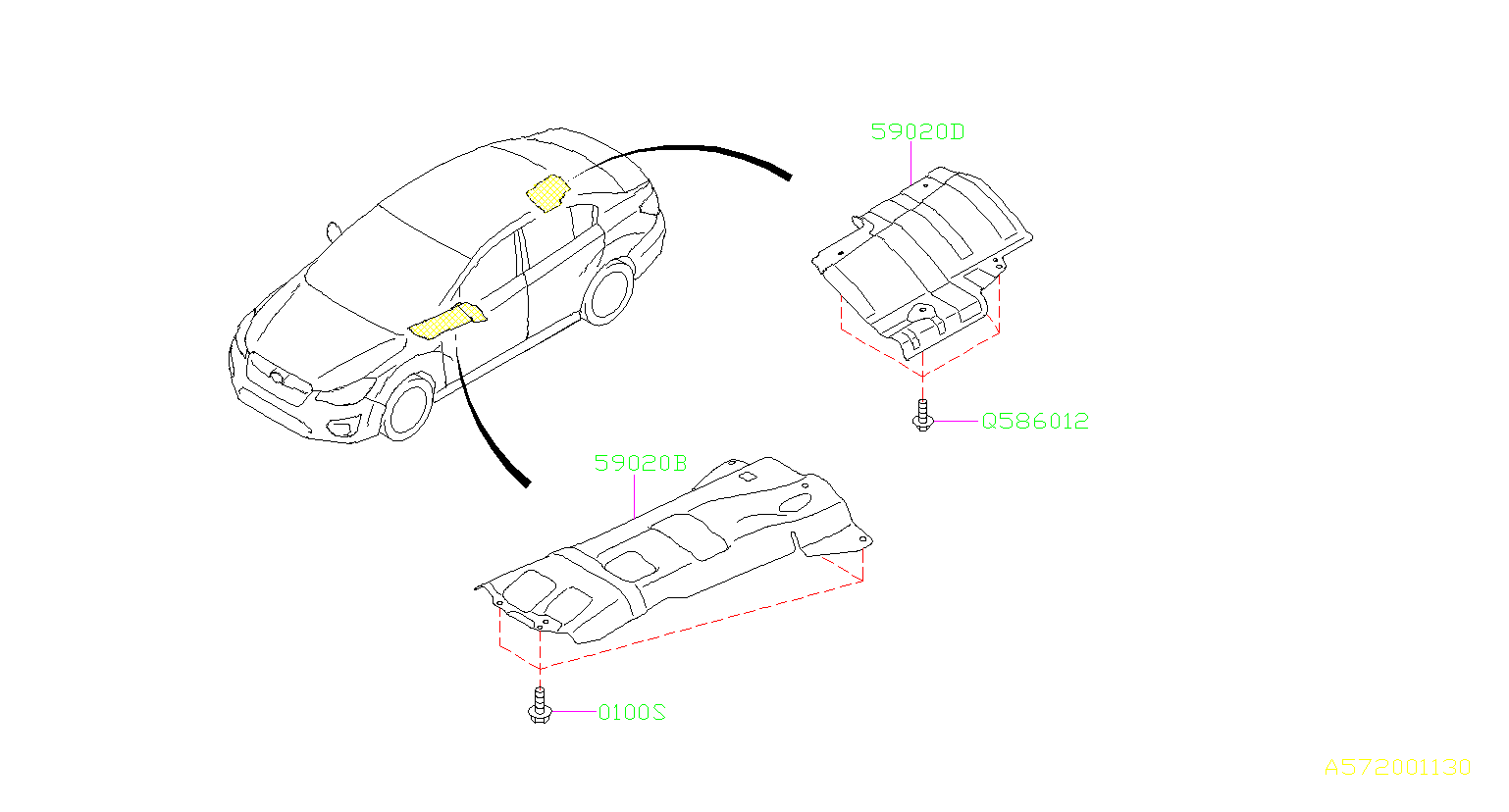 Subaru Impreza Headlight Mounting Bolt Tapping Screw