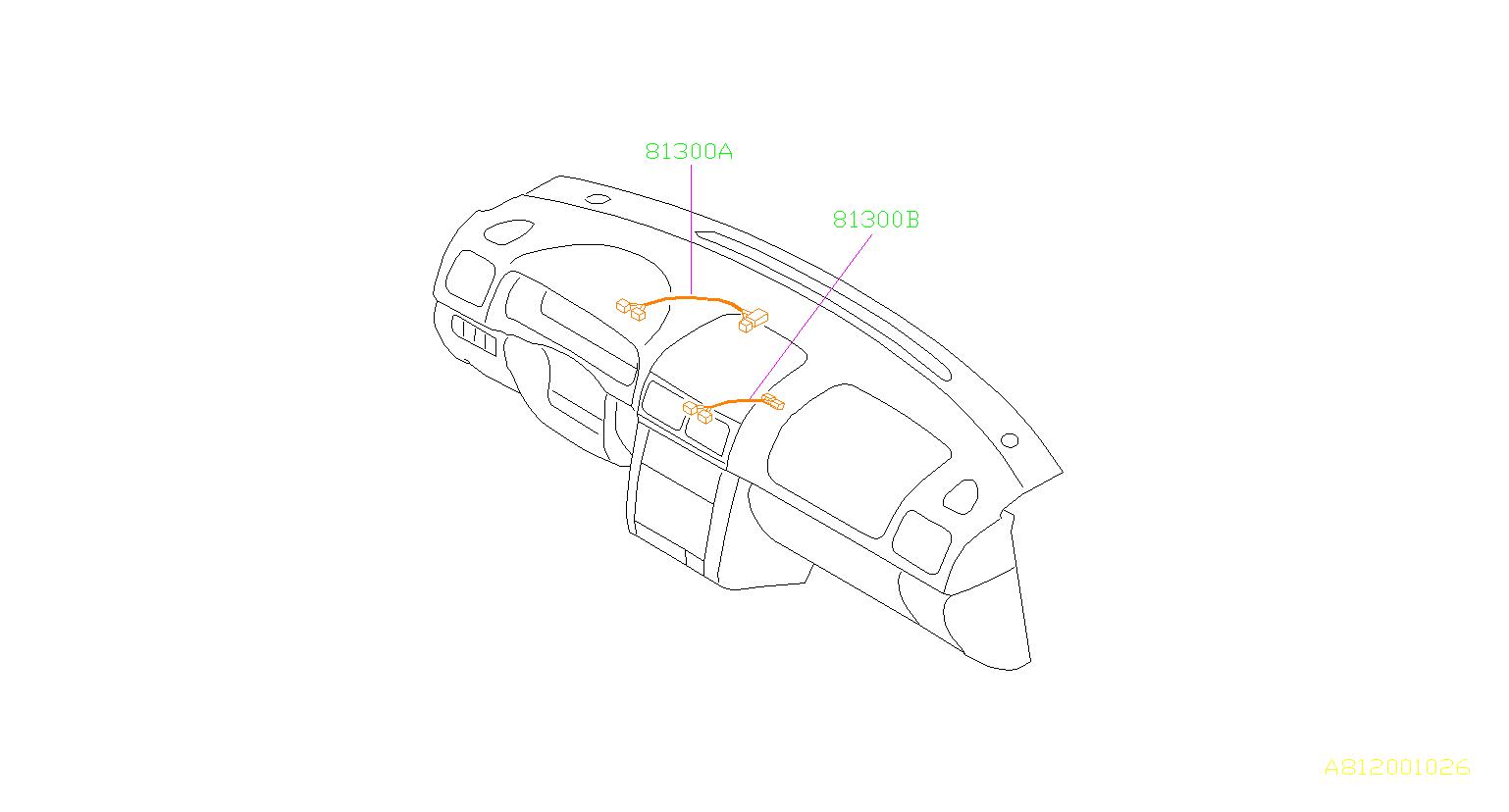 Subaru Forester Harness Instrument Panel Center Wiring