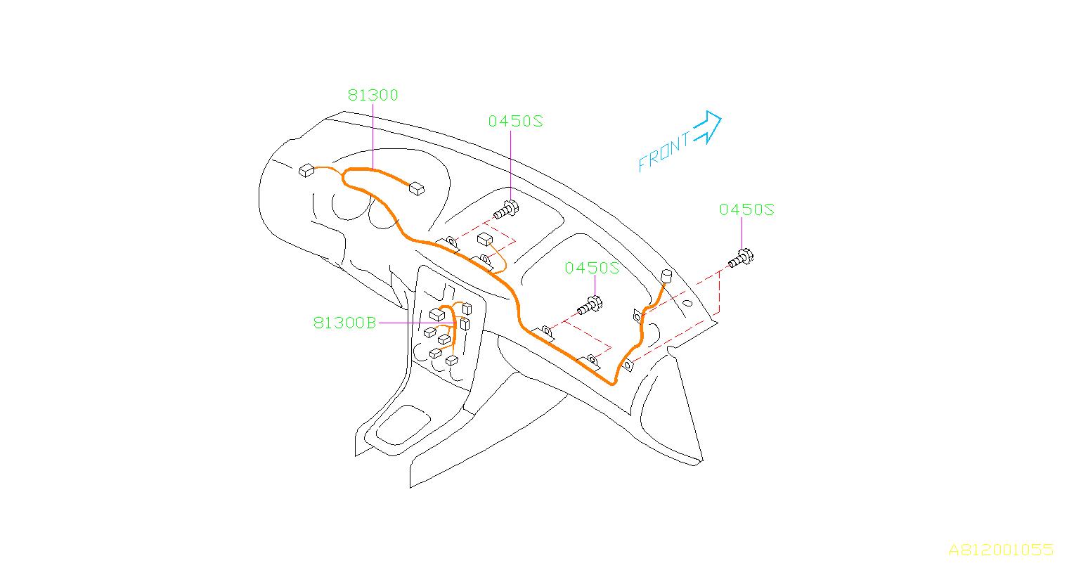 Subaru Forester Harness Instrument Panel Wiring