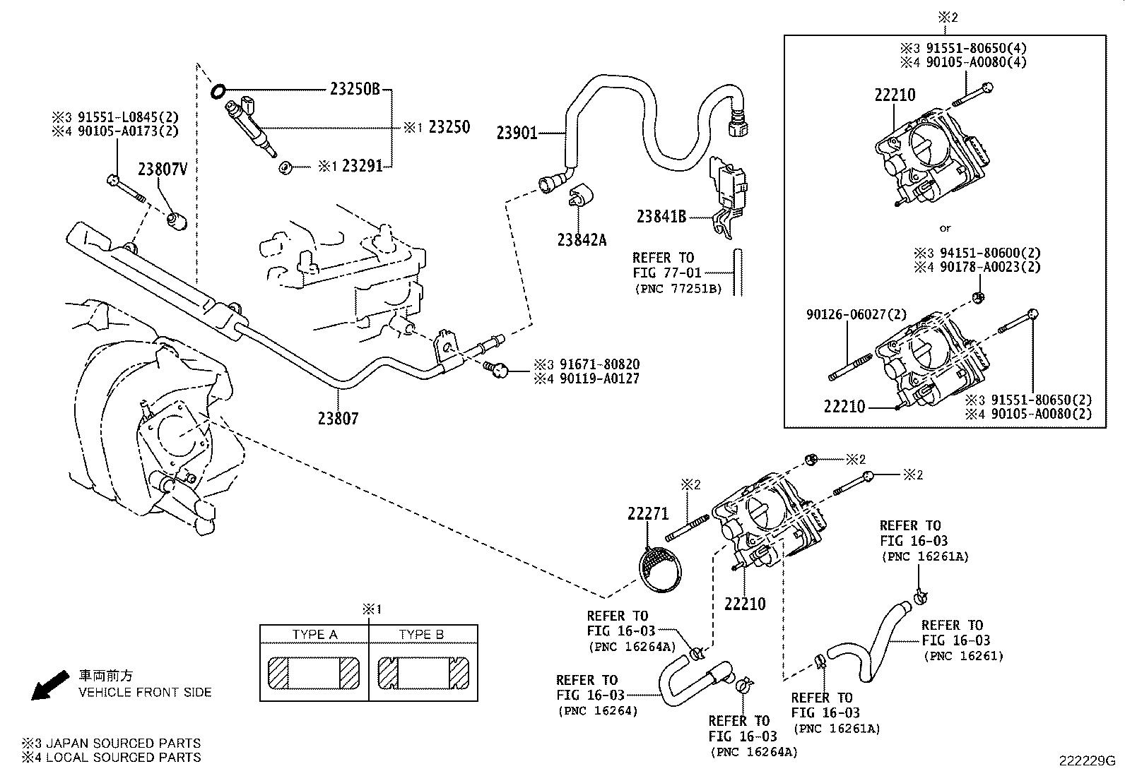 Toyota Corolla Injector Assembly Fuel