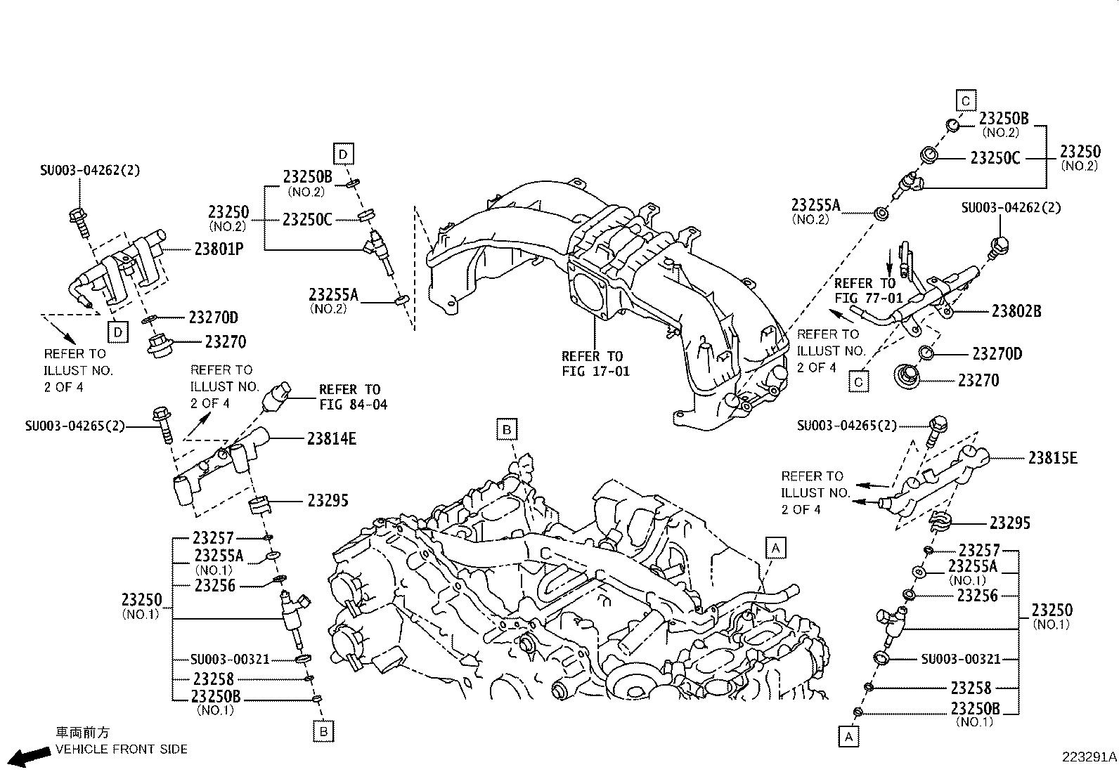 Toyota 86 Pipe Fuel Delivery System Injection