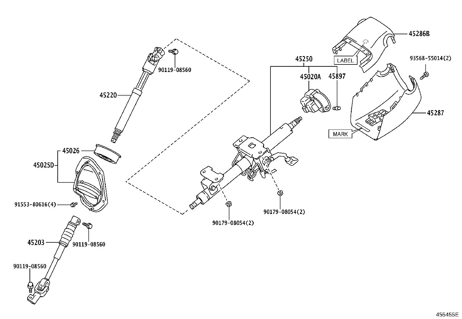 Toyota 4runner Shift Interlock Solenoid Column