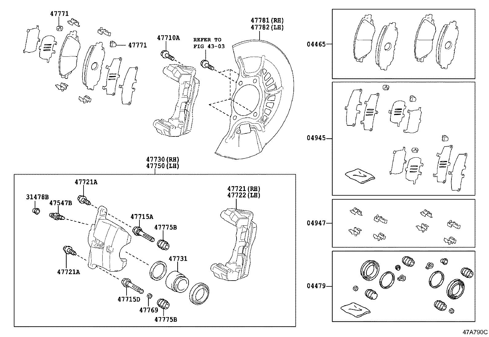 Toyota Camry Disc Brake Pad Set Front A Set Of Disc