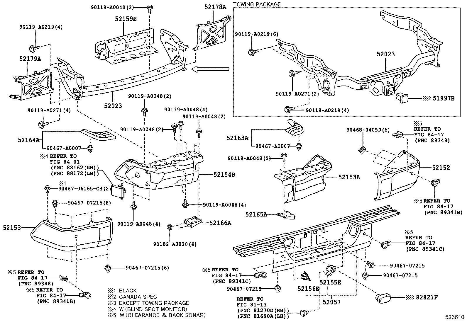 Toyota Tundra Reinforcement Sub Assembly Rear Bumper Towing Package Htwc