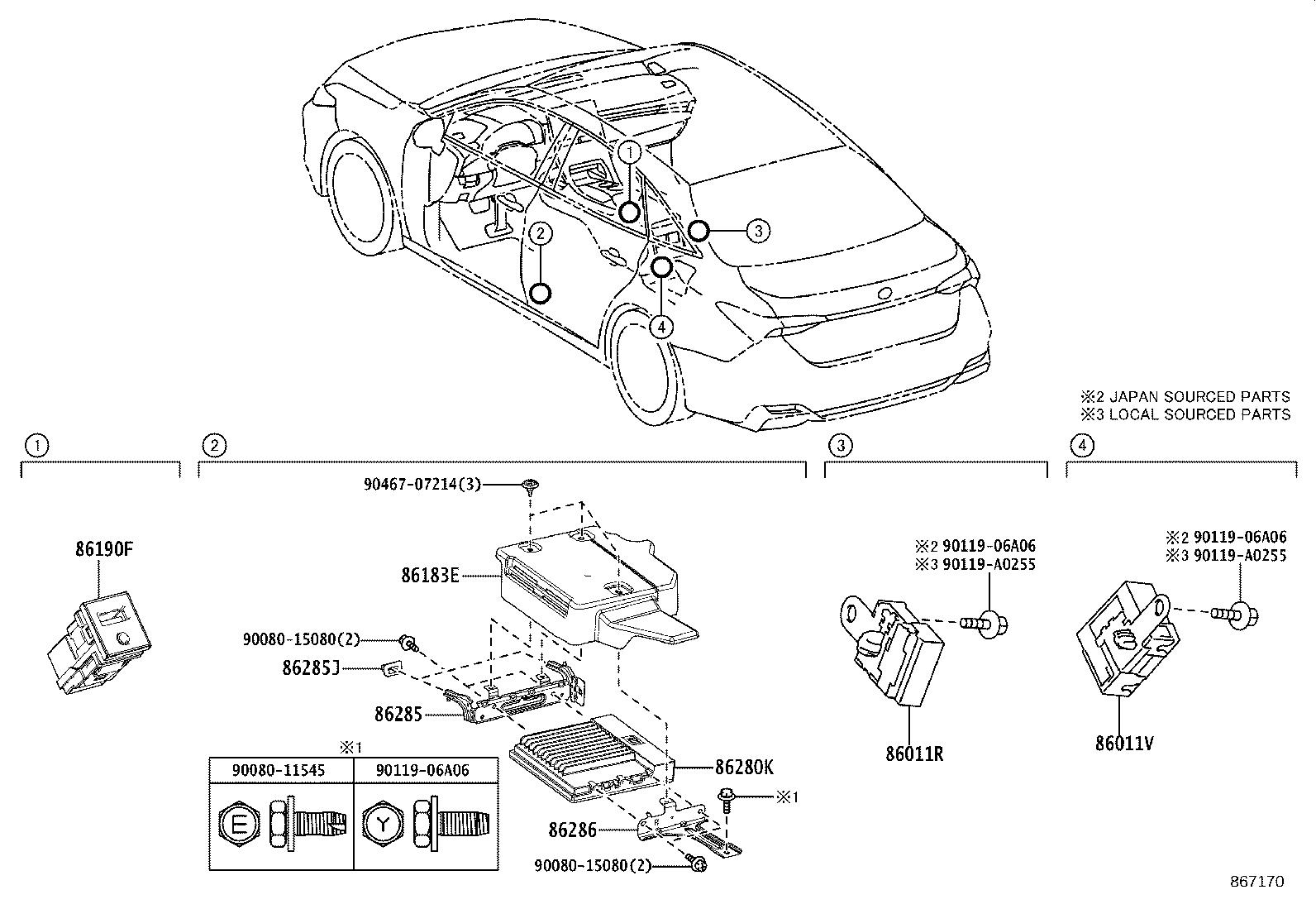 Toyota Avalon Xse 3 5l At Adapter Assembly Stereo