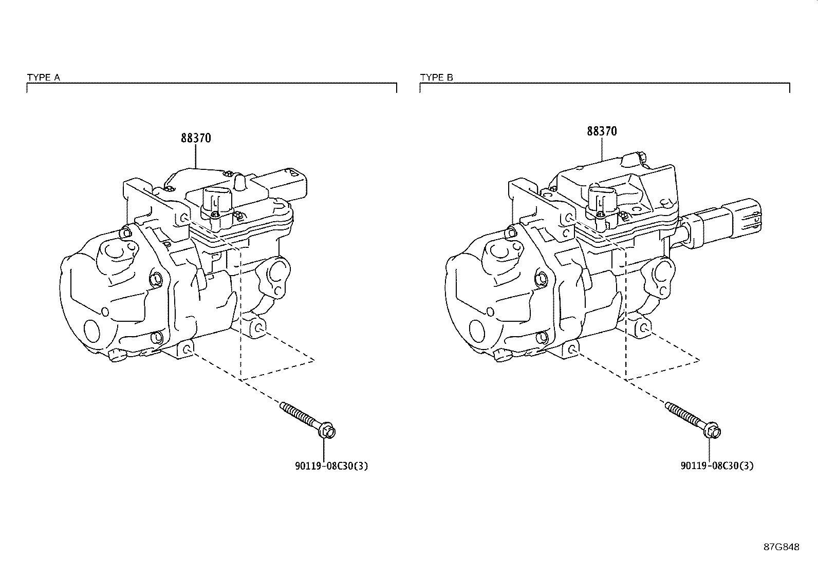 Toyota Prius Compressor Assembly With Motor