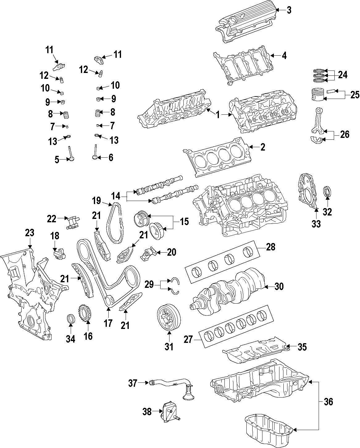 Toyota Tundra Engine Timing Chain Guide