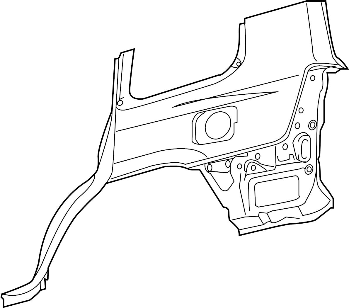 Toyota Land Cruiser Quarter Panel Right Lower Rear