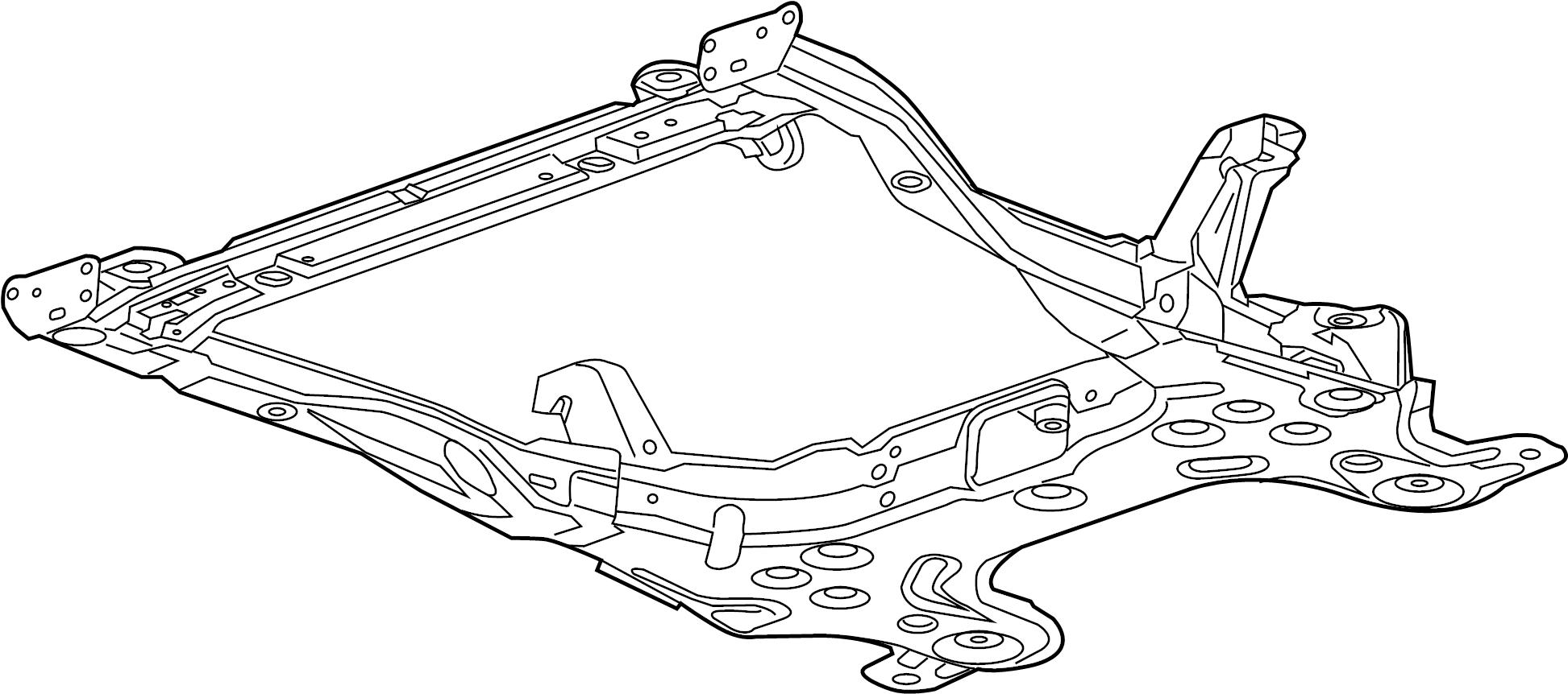 Chevrolet Sonic Suspension Subframe Crossmember Front