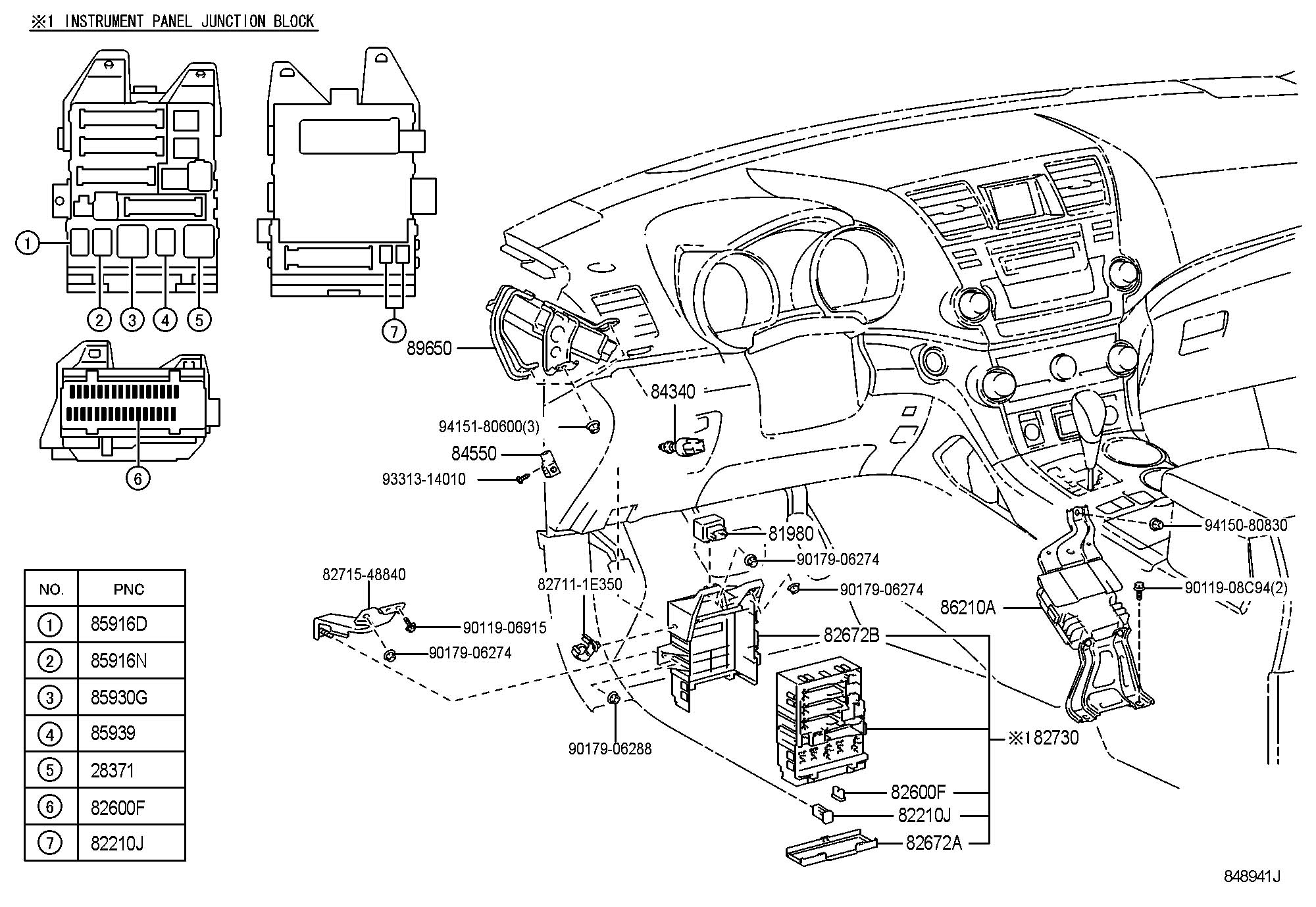 Toyota Highlander Parts Catalog