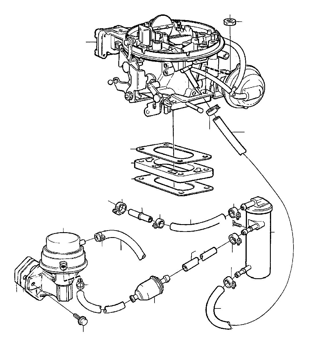 Volvo 240 Fuel Pumprked Sev 1 Pcs 2 4cyl