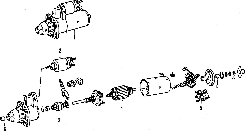 Volkswagen Passat Wagon Starter Motor Cylinder