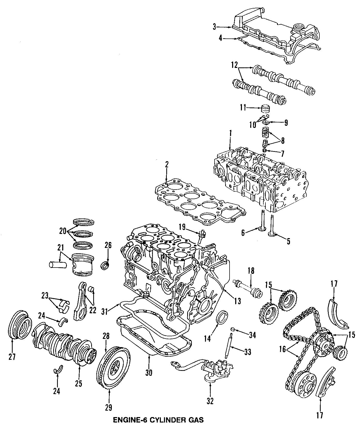 Volkswagen Jetta Engine Valve Cover 2 8 Liter W 24