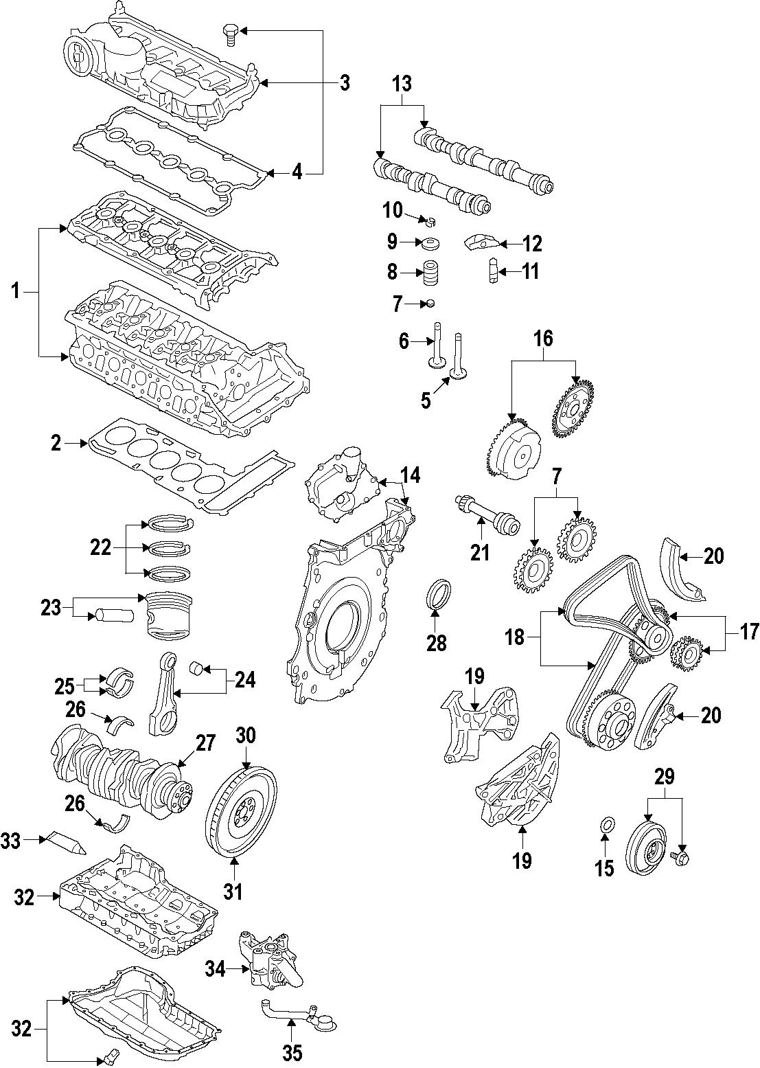 Volkswagen Rabbit Engine Cylinder Head Gasket Engine