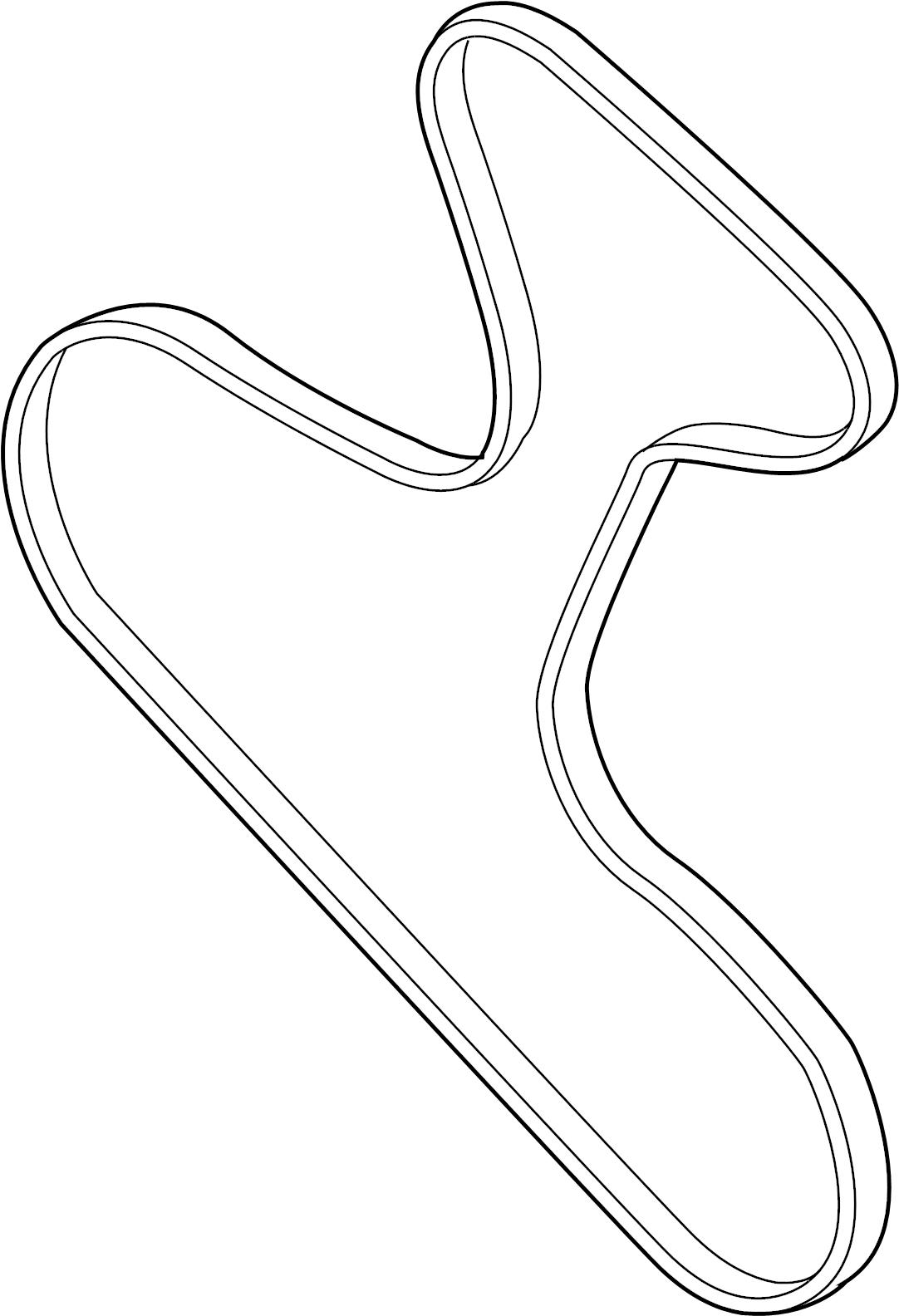 Volkswagen Doublebelt Serpentine Belt 3 2 Liter 3