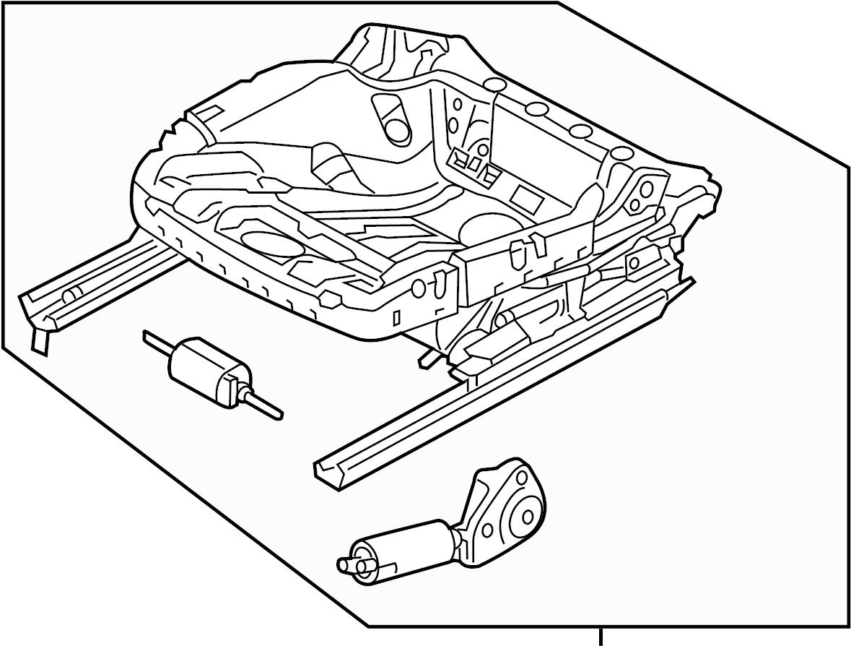 Volkswagen Passat Tdi Se 2 0l Tdisel A T Seat Frame Cushion Components Power