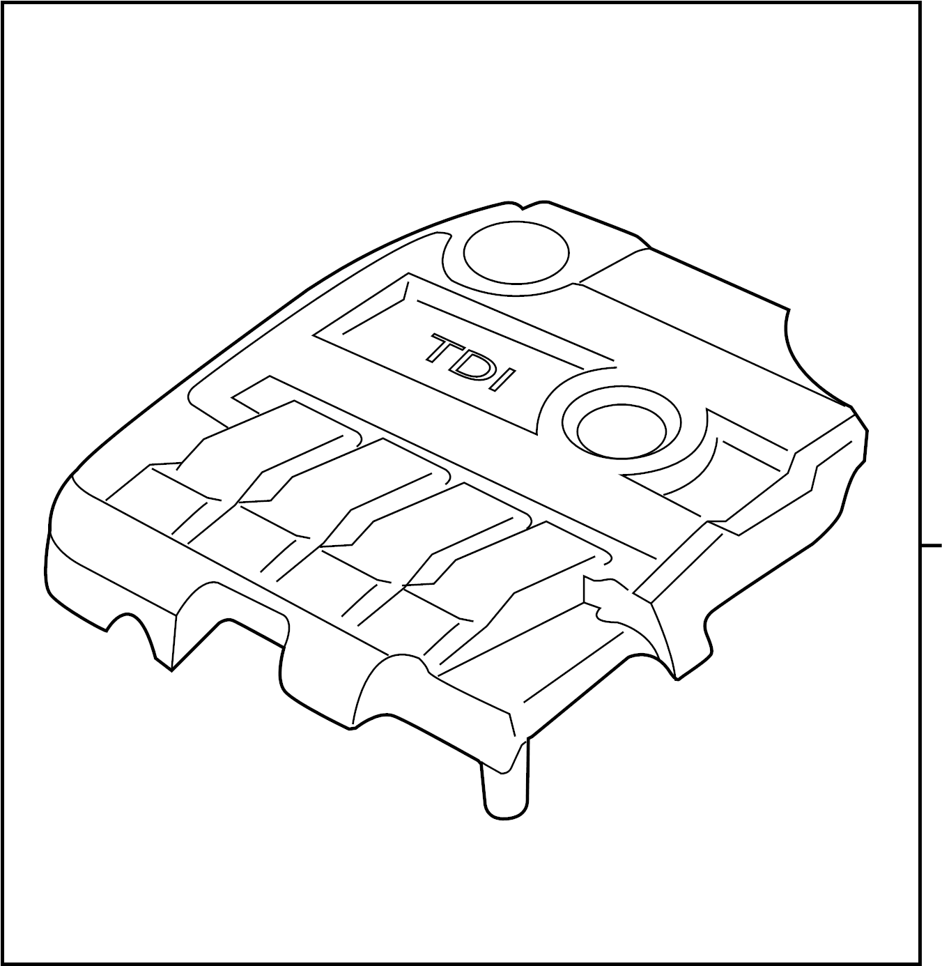 Volkswagen Jetta Gli Engine Cover Manifold Cover