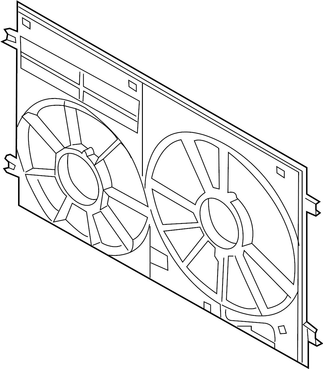 Volkswagen Jetta Engine Cooling Fan Shroud Front