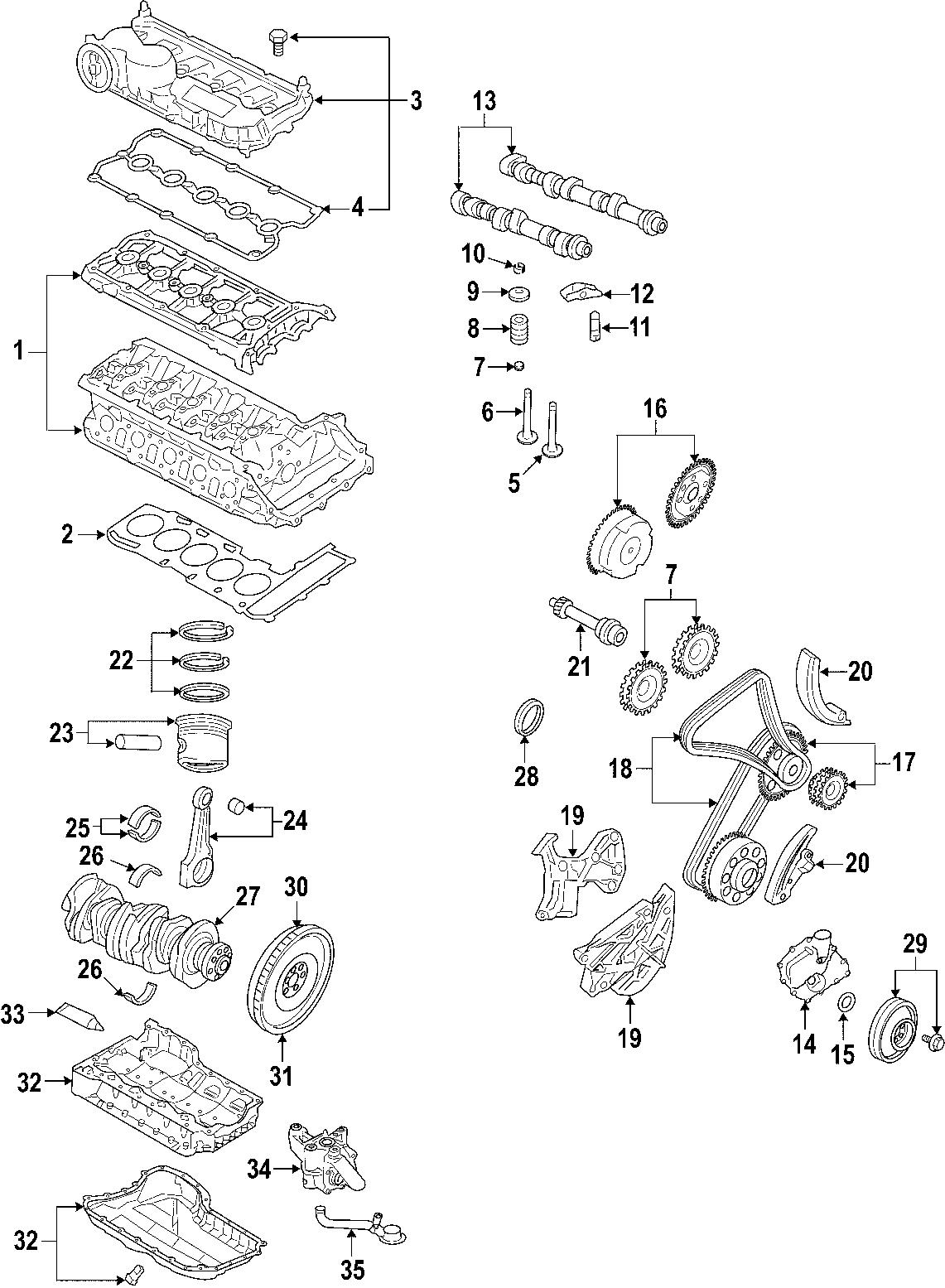 Volkswagen Jetta Wagon Engine Timing Chain Guide