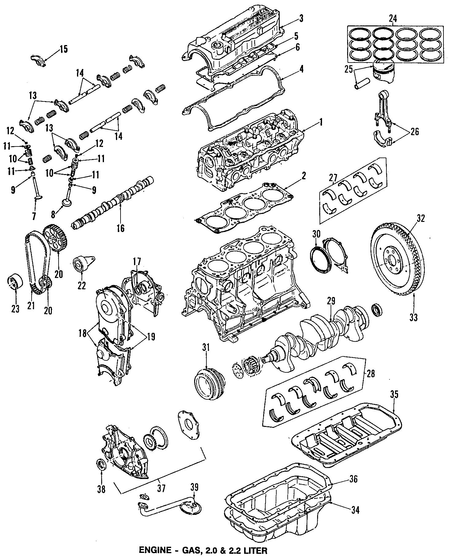 Mazda B Engine Timing Cover Gasket 2 2 Liter 626