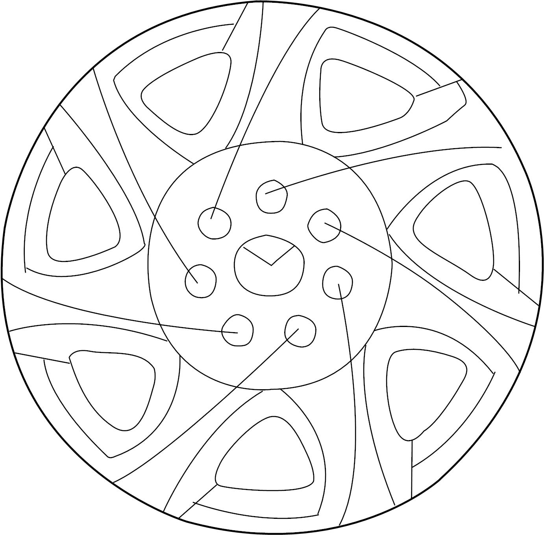 Mazda Protege Wheel Cover Steel Wheel 15