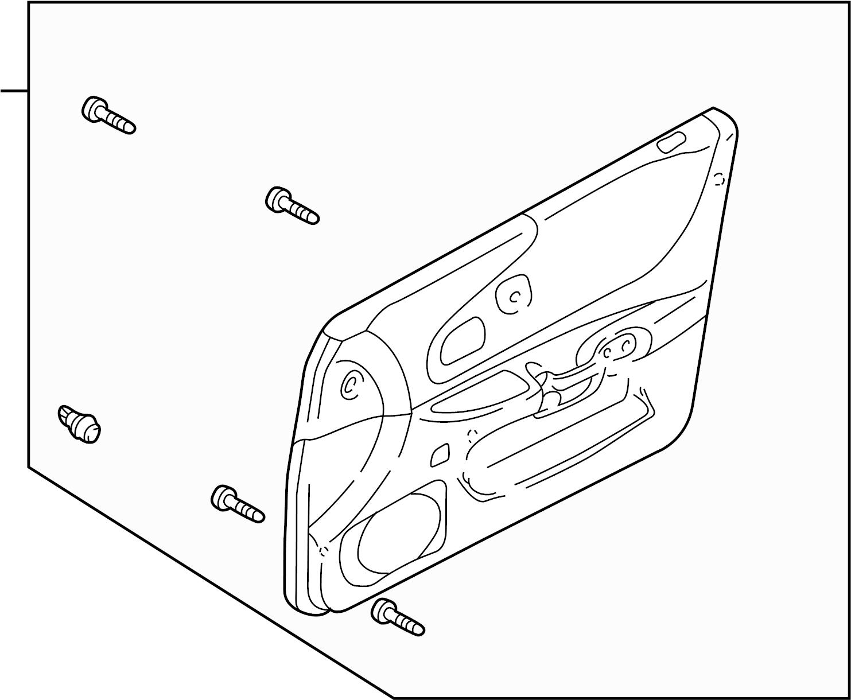 Mazda Protege Door Interior Trim Panel 01 Sedan Es