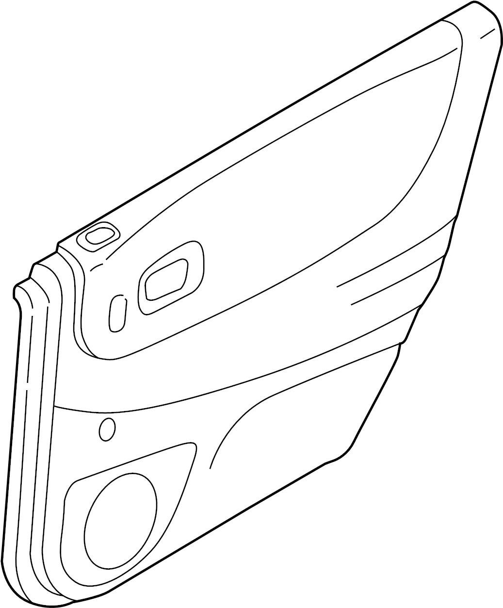 Mazda Protege5 Door Interior Trim Panel Rear Hatchback