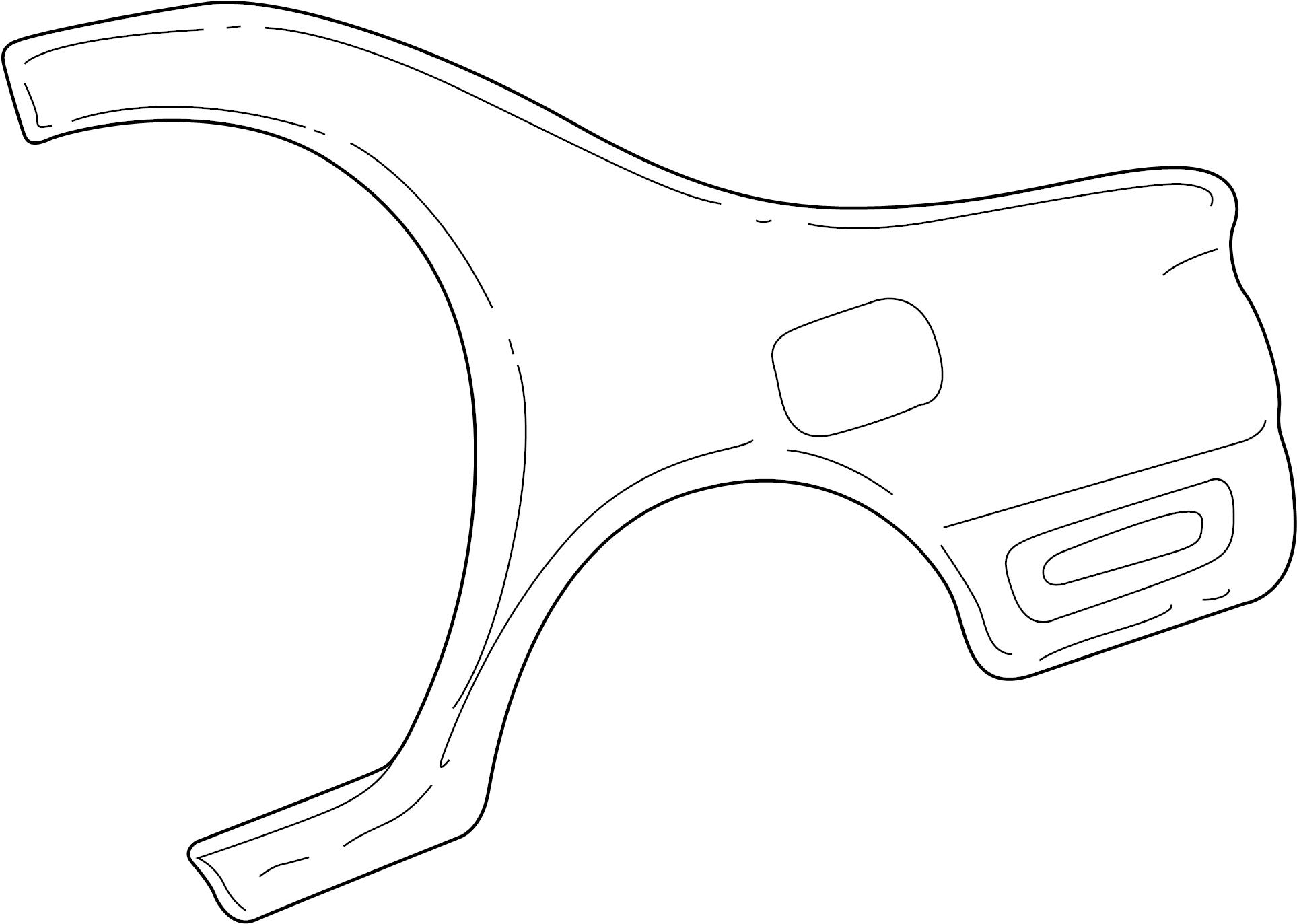 Mazda Protege Quarter Panel Sedan Right Rear