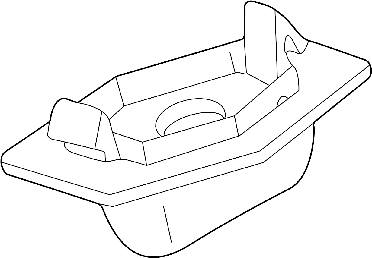 Mazda Protege License Plate Light Assembly 06 Sedan