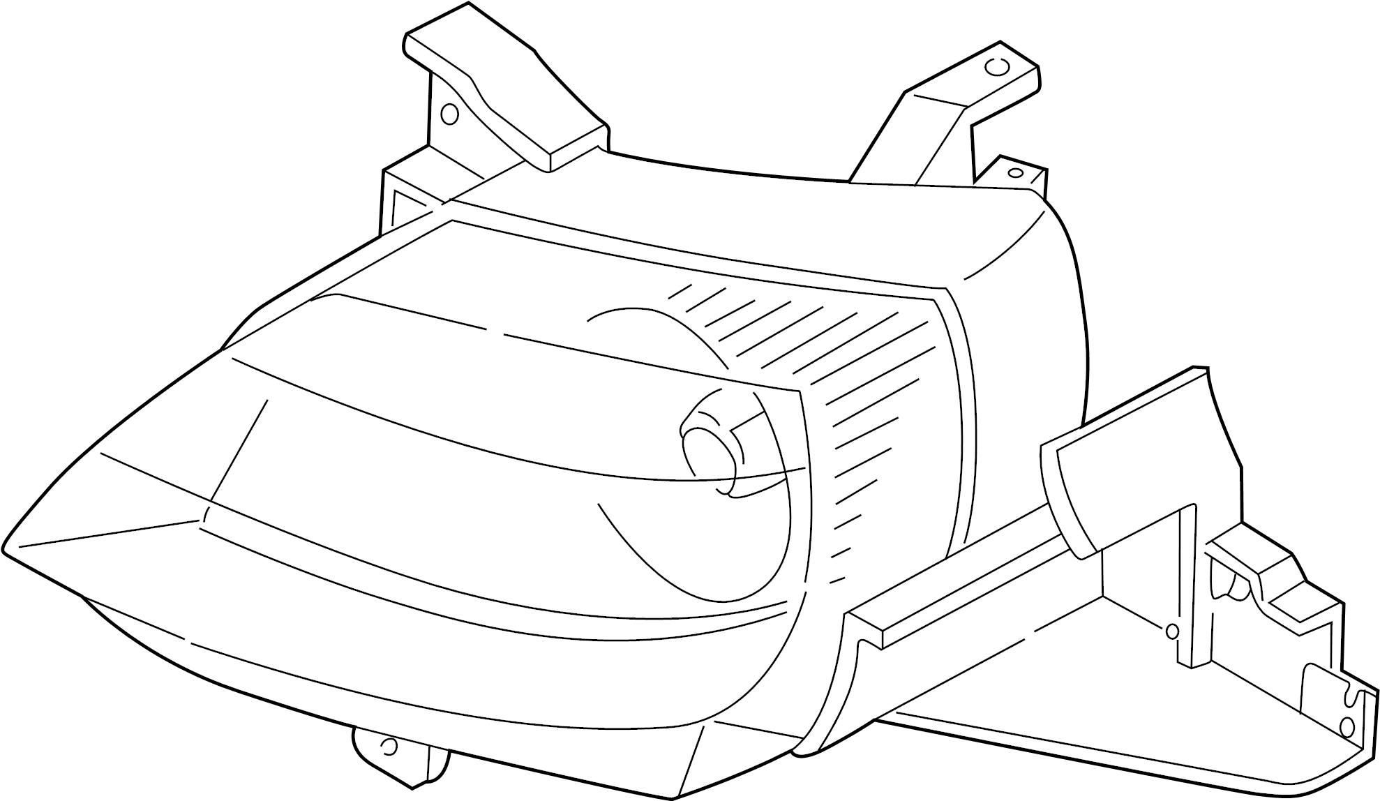 Mazda Mpv Headlight 03 Mpv Right Headlamp Front