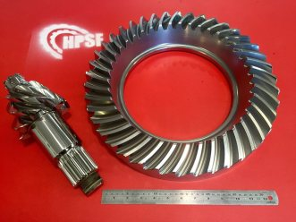 BV crown and pinion red stencil 2-17