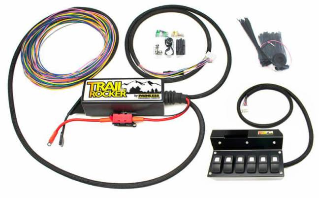 Painless (57003): Trail Rocker with Overhead Six-Switch Box for Jeep JK