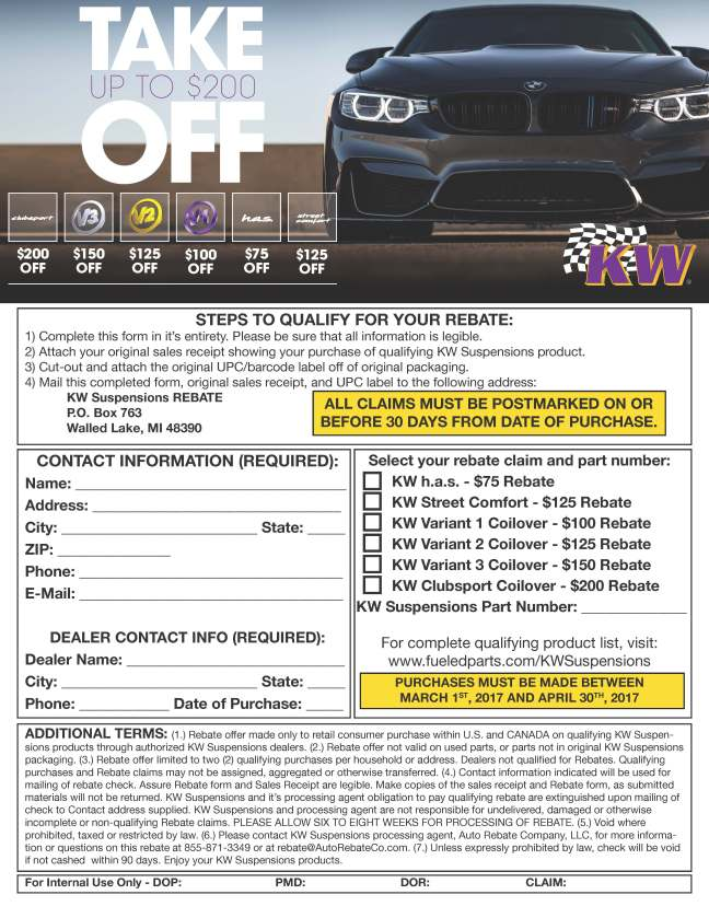 KW Suspensions: Take up to $200 Off Select Purchases