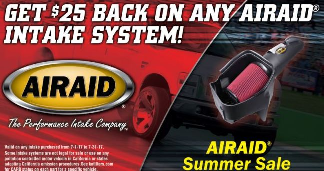 AIRAID: $25 Back on Any Intake System