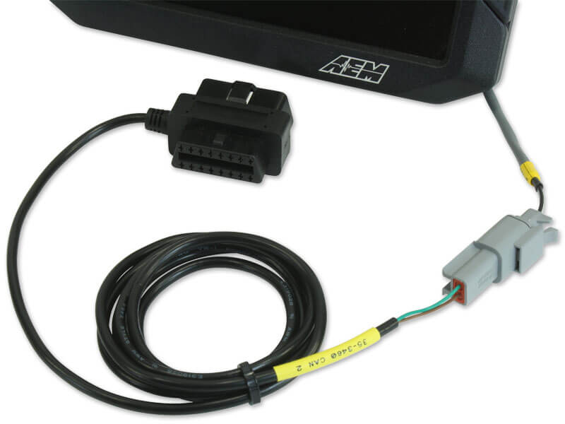 AEM (30-2217): OBDII CAN Bus Harness for CD-7 and CD-7L