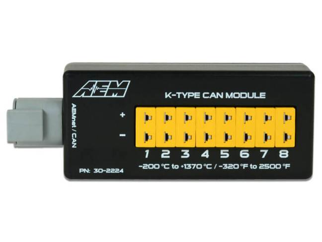 AEM 8-Channel K-Type EGT CAN Module 30-2224