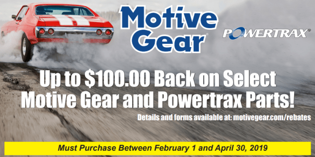 Motive Gear Up to $100 Back on Select MG and PowerTrax Purchases