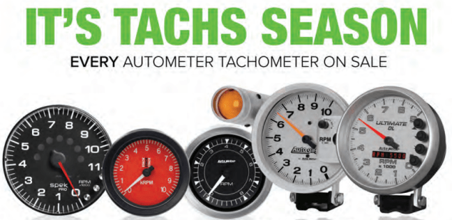 "AutoMeter: Get up to $150 Back on Tachometers During ""Tachs Season"" Rebate Period"