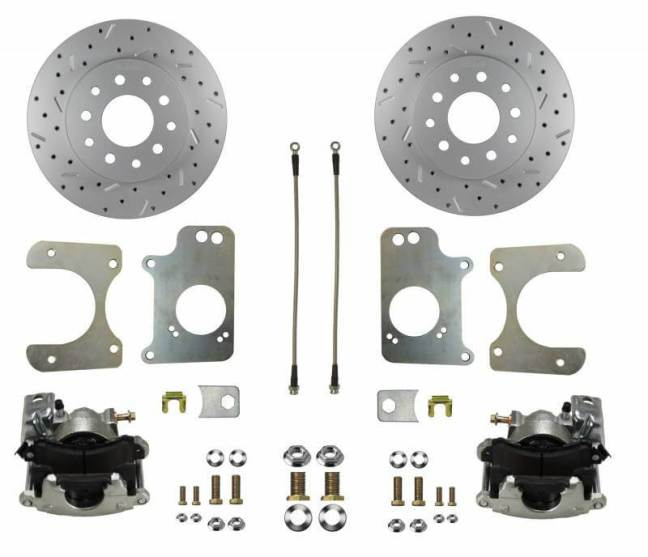 LEED Brakes GM 10 Bolt Rear Disc Brake Conversion Kit for Three Bolt Flange Axles RC1009X
