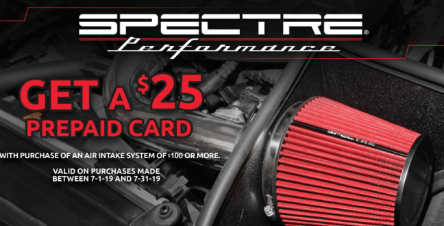 Spectre Performance: Get $25 Back on Air Intake System Purchases of $100 or More