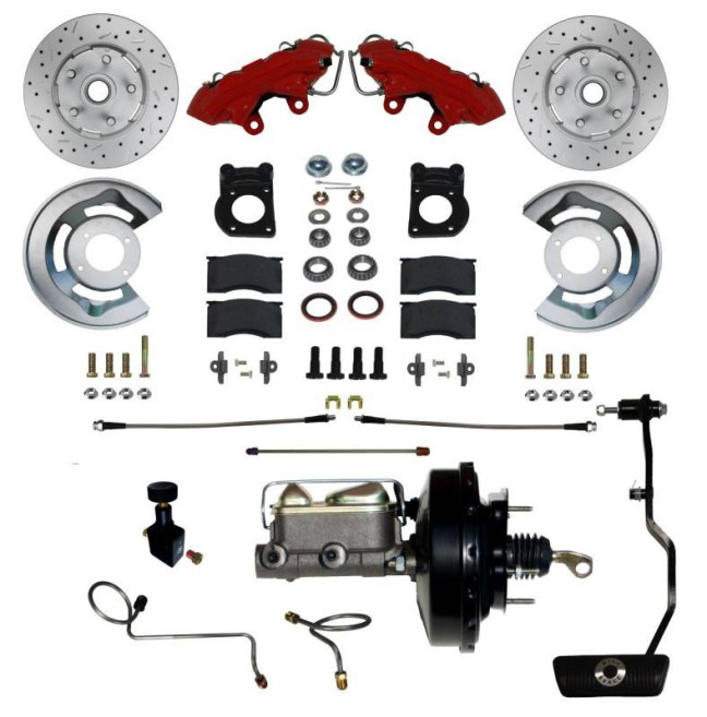 LEED Brakes Power Disc Conversion Kit for 1970 Mustang Cougar RFC0003-3405AX