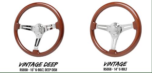 Racing Power Company (R5860–R5882): Wood Steering Wheel