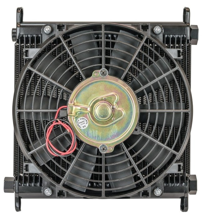 Flex-A-Lite Remote Mount Stacked Plate 32 Row Engine Oil Cooler with Electric Fan 116232
